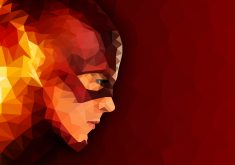 The Flash Abstract Artwork Red TV Show 4K Wallpaper