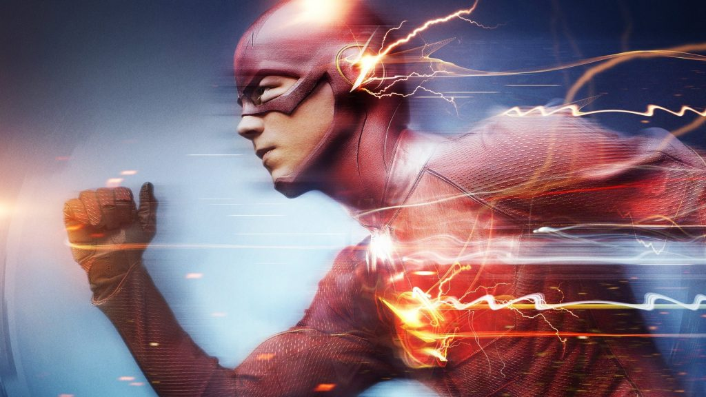The Flash Red Lightning Speedster 4K Wallpaper