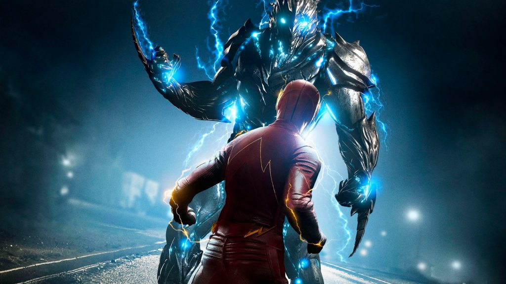 The Flash Savitar Red Blue TV Show 4K Wallpaper