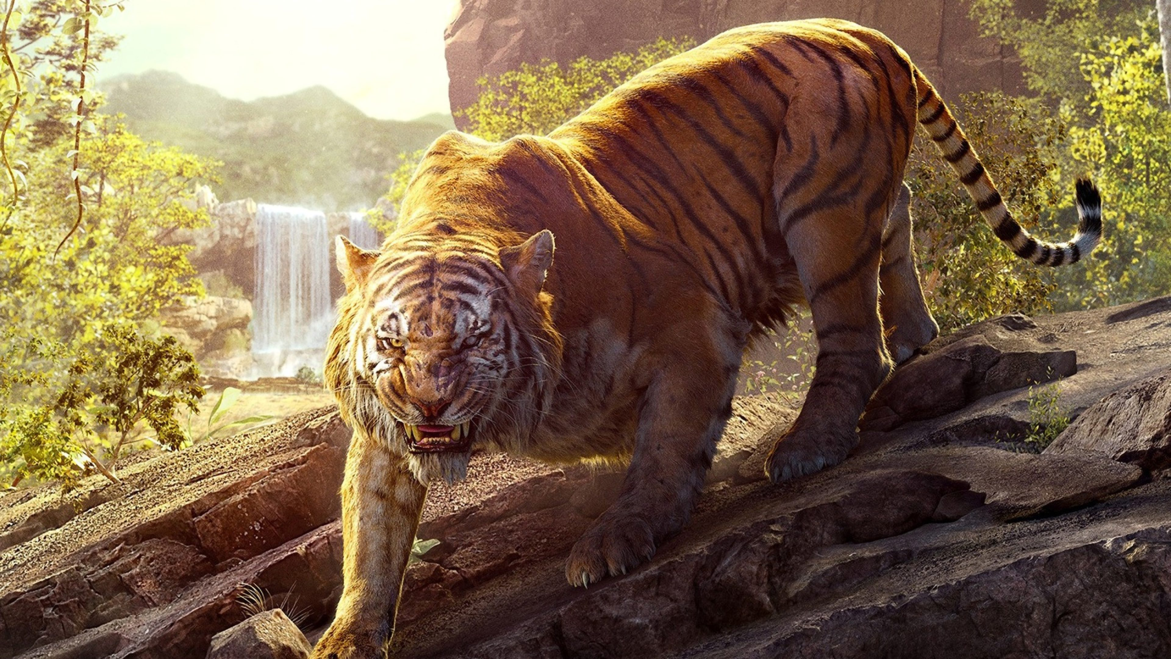 The Jungle Book Shere Khan Tiger 4k Wallpaper Best Wallpapers