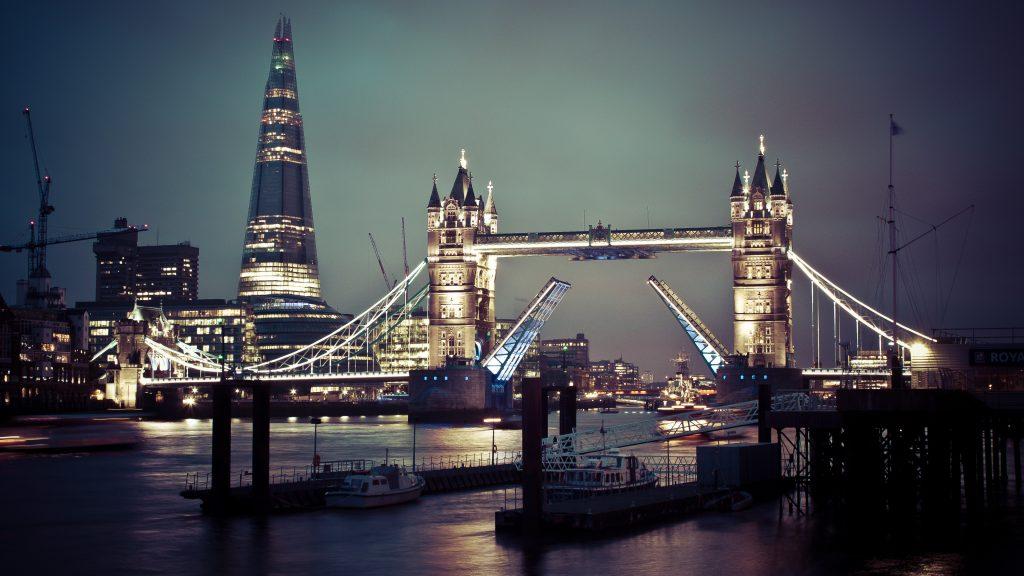 Tower Bridge Night Lights London 4K Wallpaper