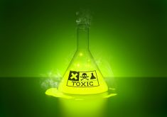 Toxic Chemical Yellow Green Smoke 5K Wallpaper
