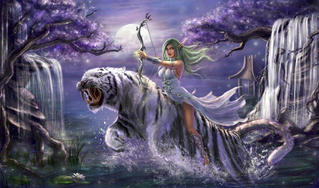 Tyrande Whisperwind World of Warcraft 5K Wallpaper