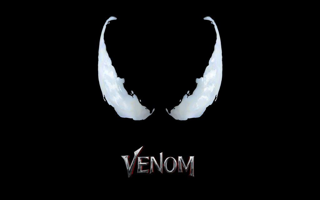 Venom Movie Logo Black 4K Wallpaper