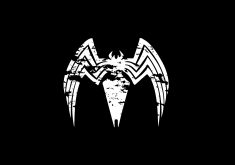 Venom Movie Spider Black Poster 5K Wallpaper