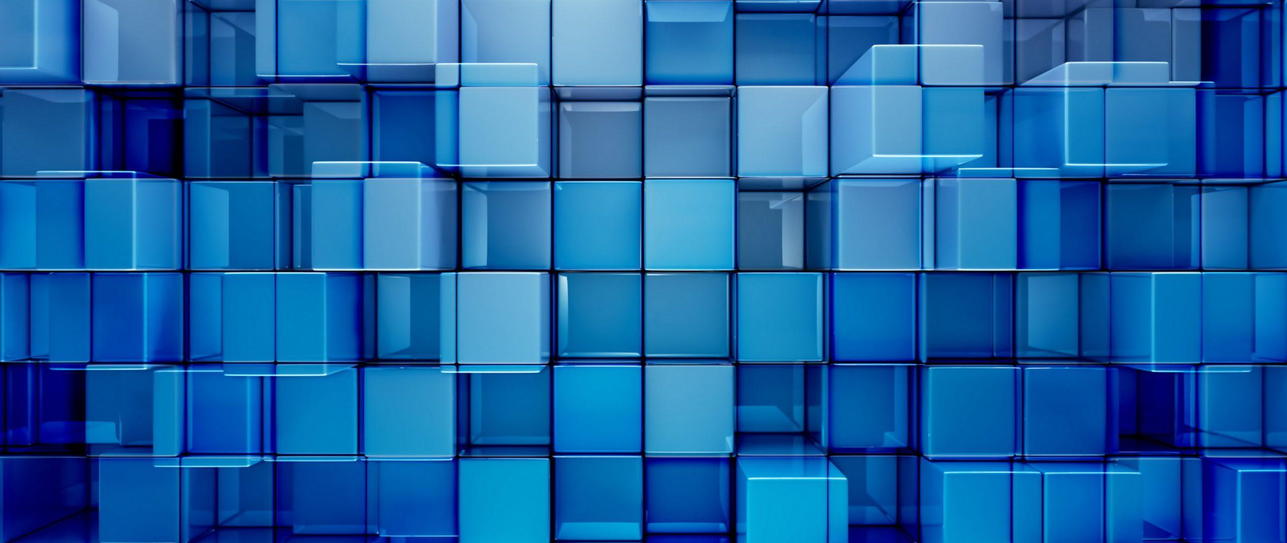 3D Cubes Abstract Pattern Blue 4K Wallpaper - Best Wallpapers