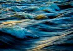 Abstract Background Beach Water Waves 5K Wallpaper