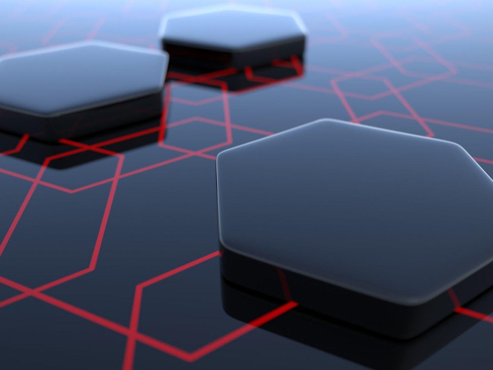 Abstract Hexagon 3D Black 4K Wallpaper