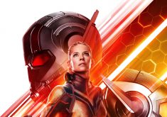 Ant-Man and the Wasp Movie Poster Red Yellow 4K Wallpaper