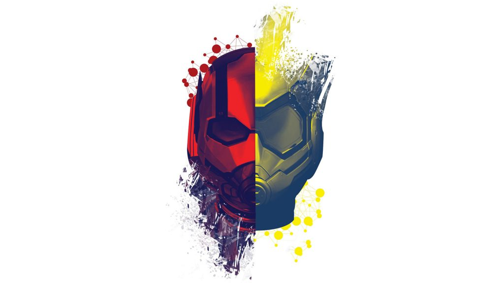 Ant-Man and the Wasp Red Face Yellow Artwork 4K Wallpaper