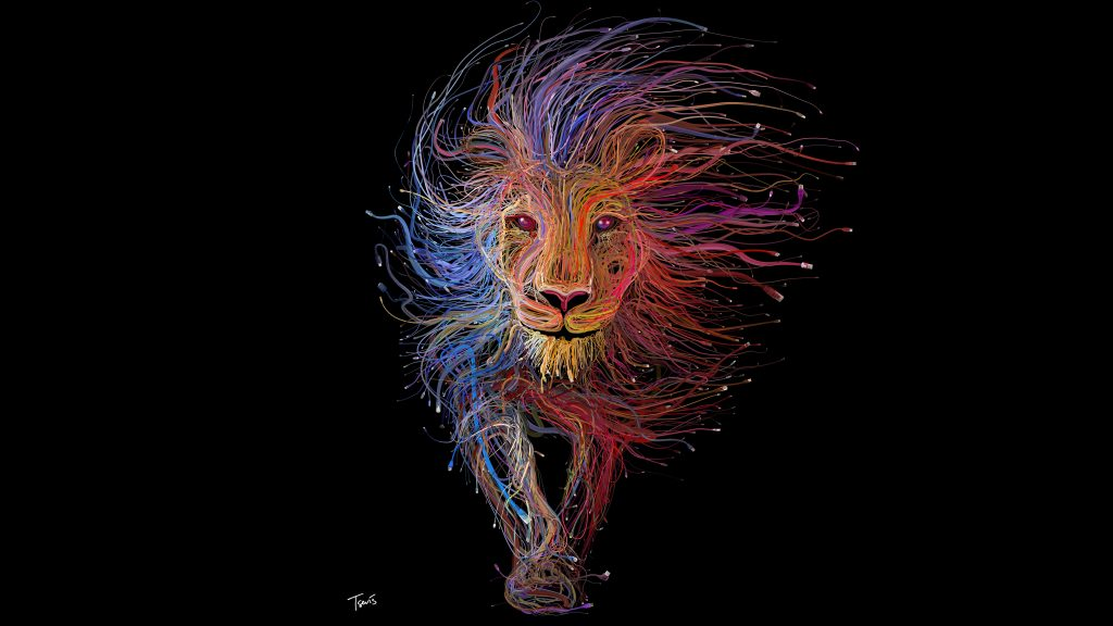 Artistic Lion King Colorful 8K Wallpaper