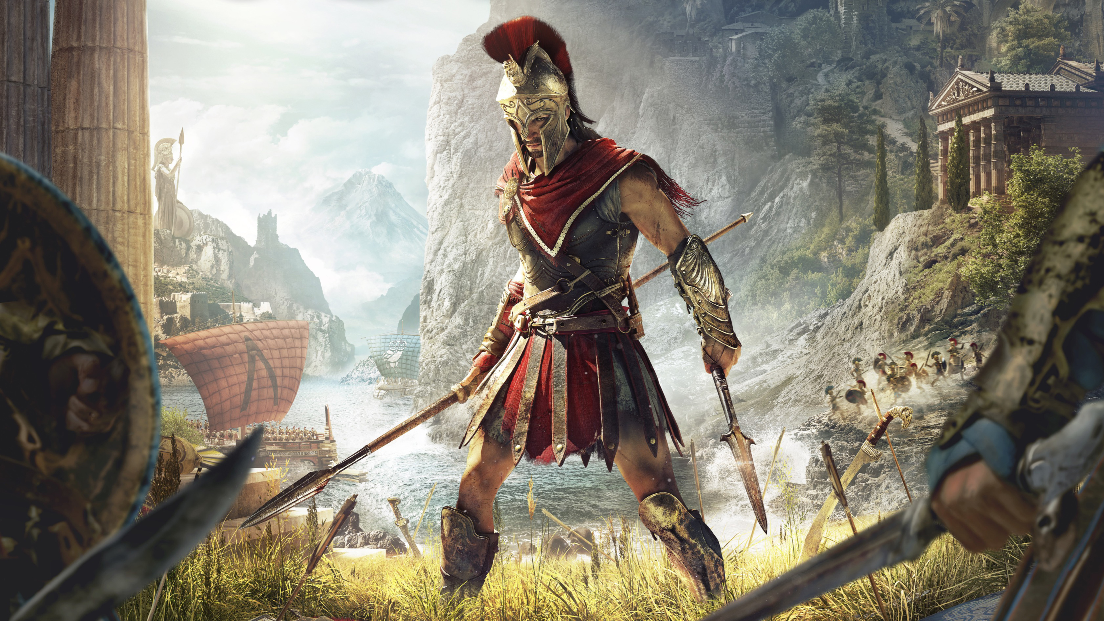 Assassin S Creed Odyssey Game 4k Wallpaper Best Wallpapers