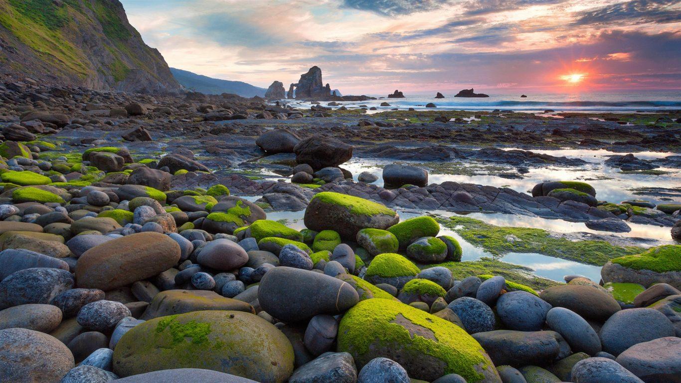 Beautiful Nature Rocks 8K Wallpaper