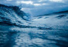 Blue Water of Ocean Waves 5K Wallpaper