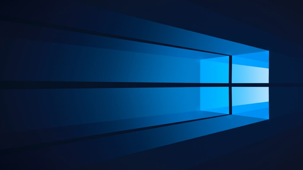 Flat Blue Windows 10 4K Wallpaper