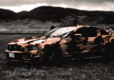 Ford Mustang Military Car 4K Wallpaper