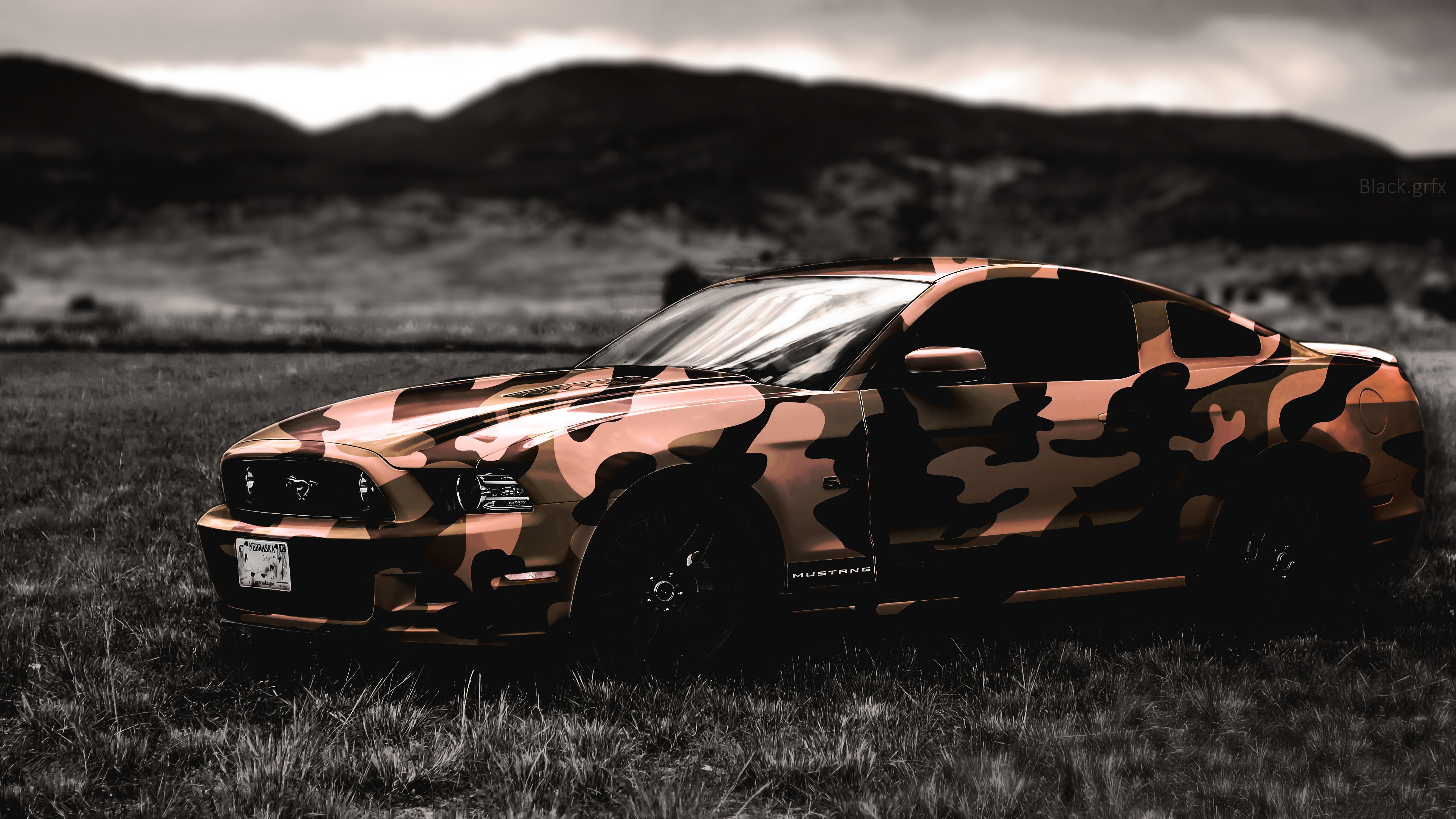 Ford Mustang Military Car 4k Wallpaper Best Wallpapers