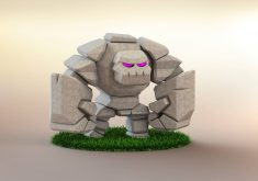 Golem Clash of Clans 5K Wallpaper