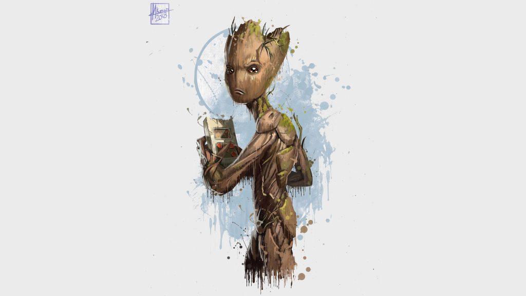 Groot Avengers Infinity War Artwork 4K Wallpaper