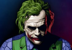 Joker Heath Ledger Illustration Artwork 4K Wallpaper