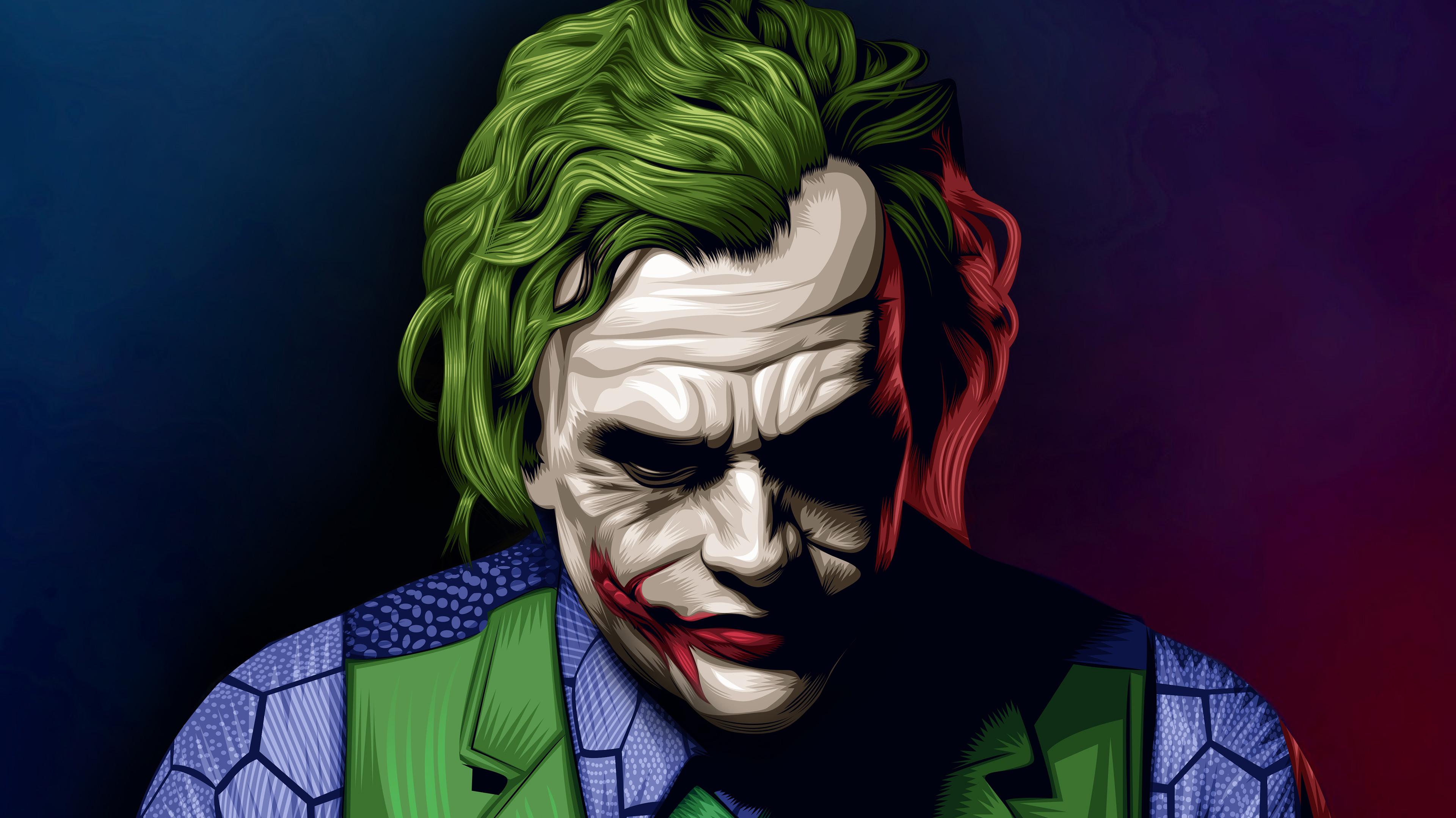 Joker Heath Ledger Illustration Artwork 4k Wallpaper Best