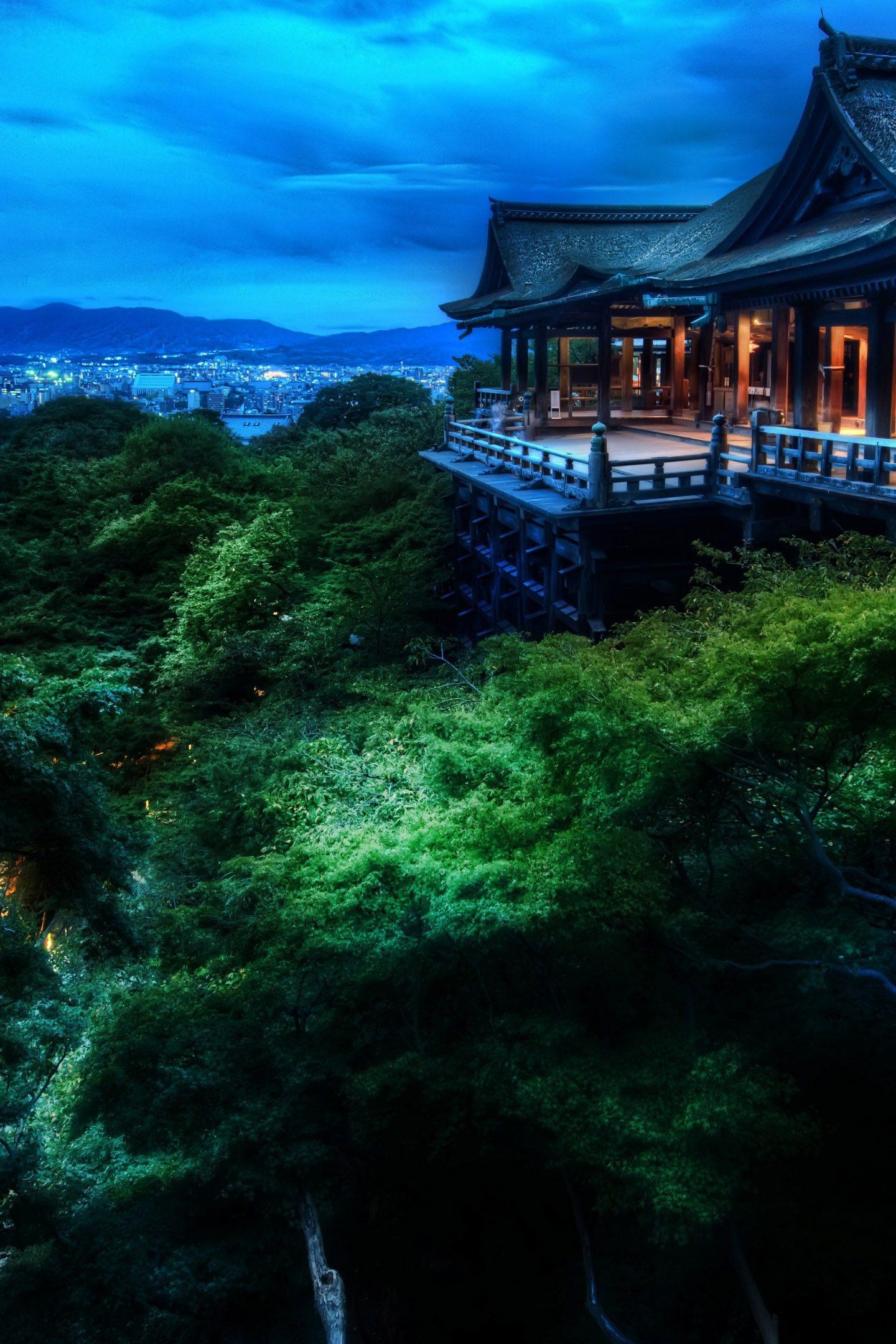 Kyoto Japan Night View 4K Wallpaper - Best Wallpapers