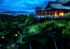Kyoto Japan Night View 4K Wallpaper