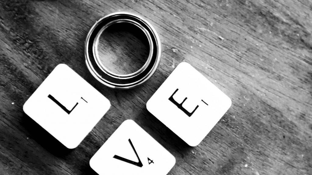 Love Engagement Rings Monochrome 4K Wallpaper