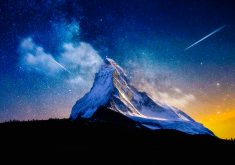 Milky Way Mountain Stars 4K Wallpaper