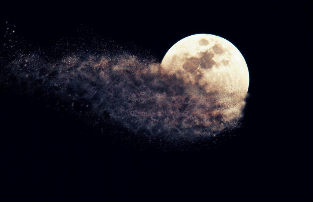 Moon Sky Night 5K Wallpaper