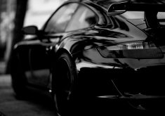 Porsche Car Black 4K Wallpaper