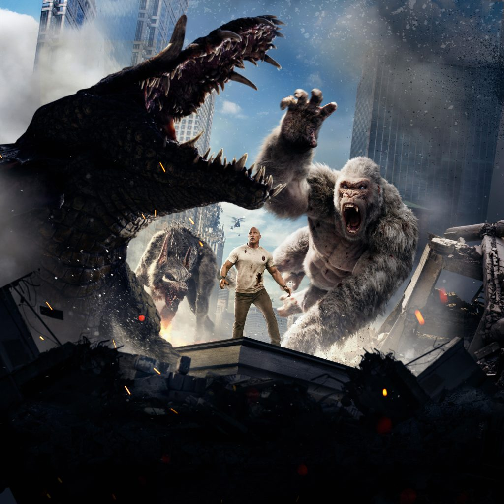 Rampage Movie Cover 8K Wallpaper