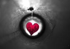 Red Heart I Love You 4K Wallpaper