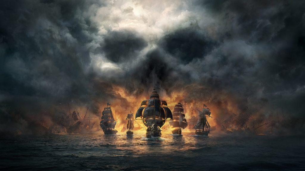 Skull and Bones Dark Pirates Ships 8K Wallpaper