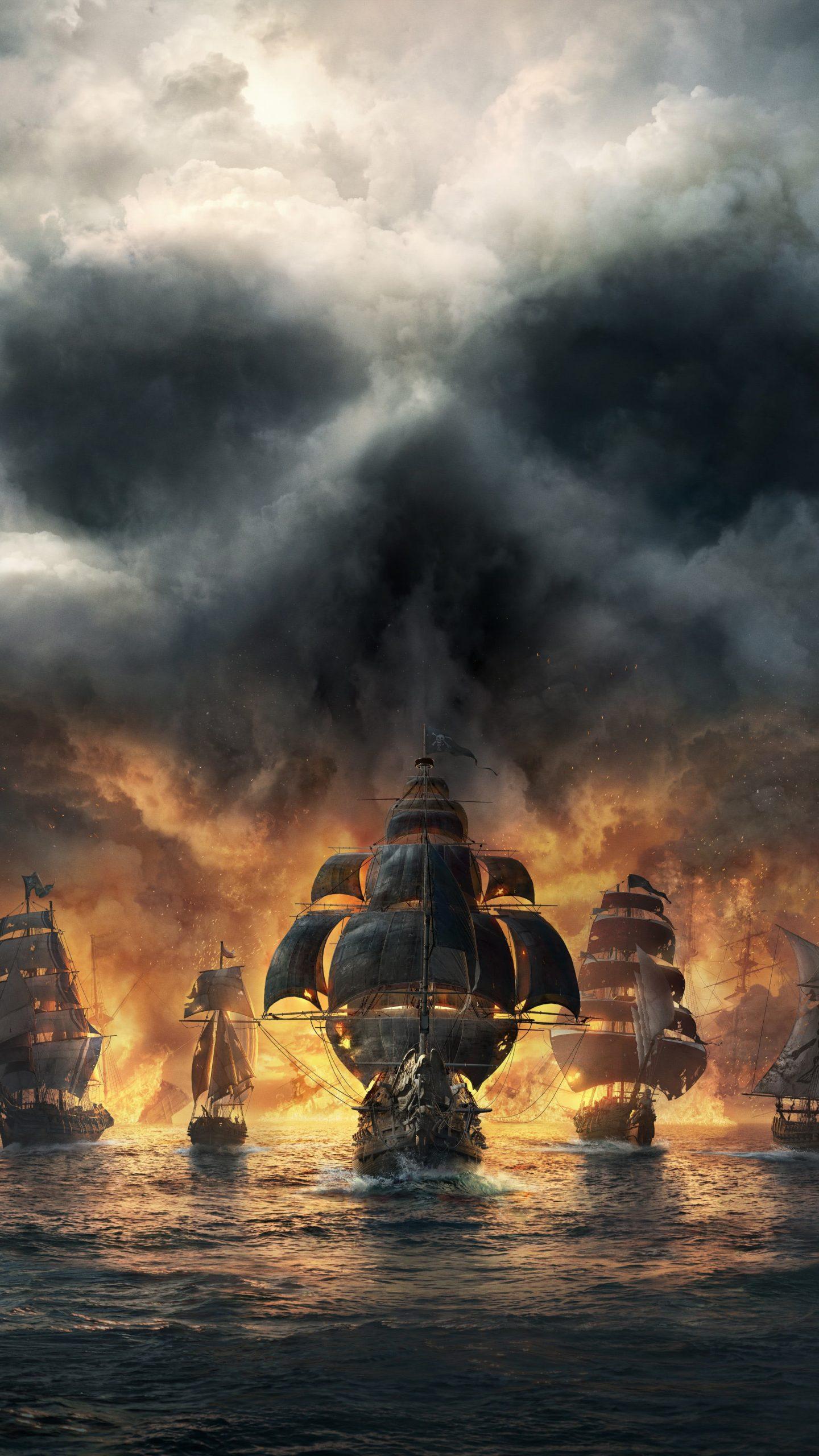 Skull And Bones Dark Pirates Ships 8k Wallpaper Best