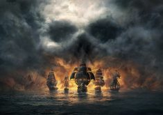 Skull and Bones Dark Pirates Ships 8K Wallpaper