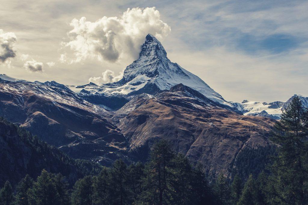 Snow Mountain Clouds 4K Wallpaper