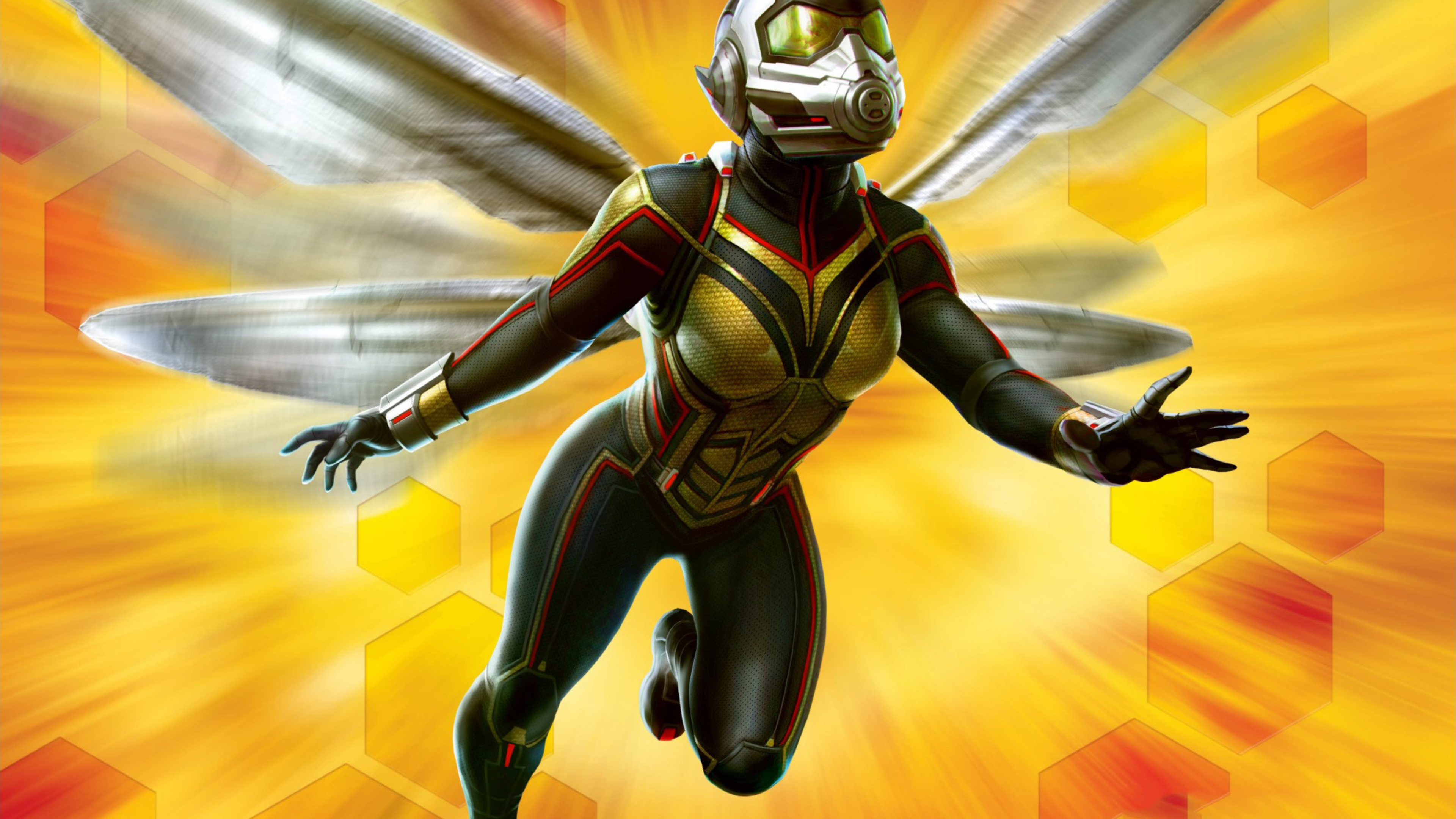 Ant Man And The Wasp Wallpaper: Wasp In Ant-Man And The Wasp Movie 4K Wallpaper
