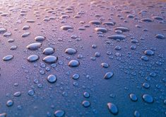 Waterdrops Blue 4K Wallpaper