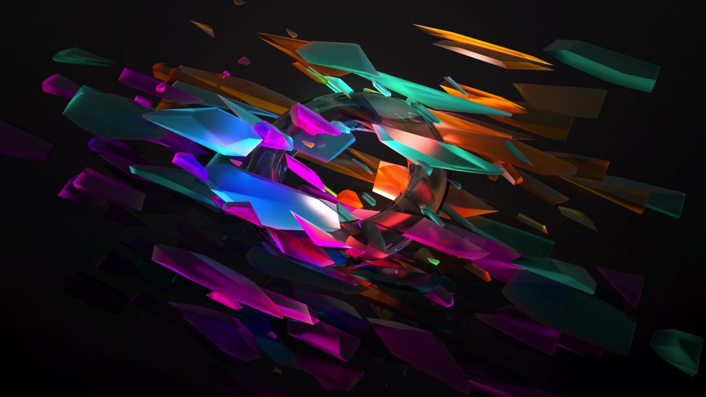Abstract Colorful Spectrum Pieces 5K Wallpaper