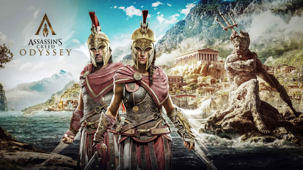Alexios and Kassandra Assassins Creed Odyssey 8K Wallpaper