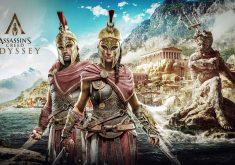 Alexios and Kassandra Assassins Creed Odyssey 8K Wallpaper