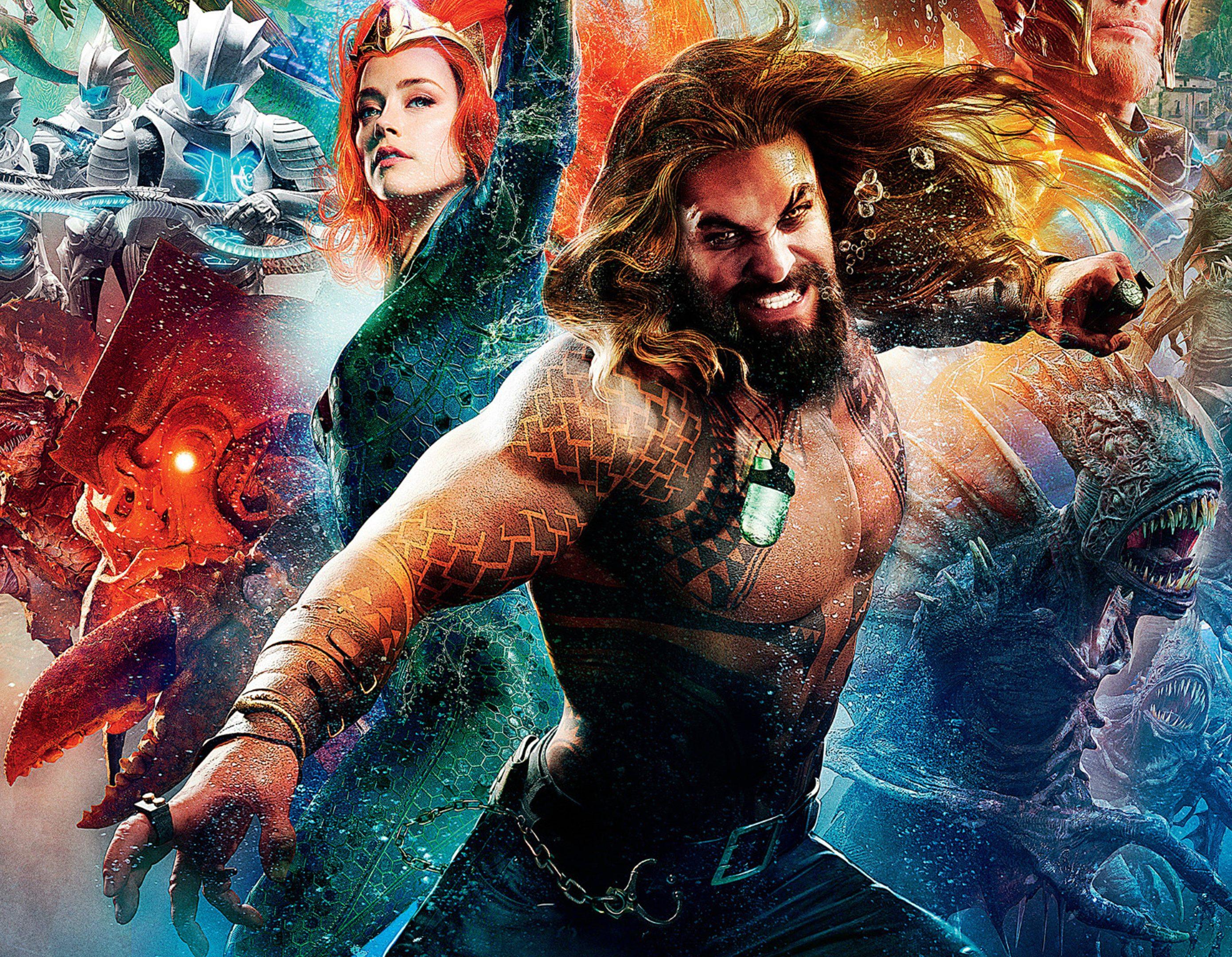 2048x2048 Mera Aquaman Movie Poster Ipad Air Hd 4k: Aquaman 2018 Movie Poster 4K Wallpaper