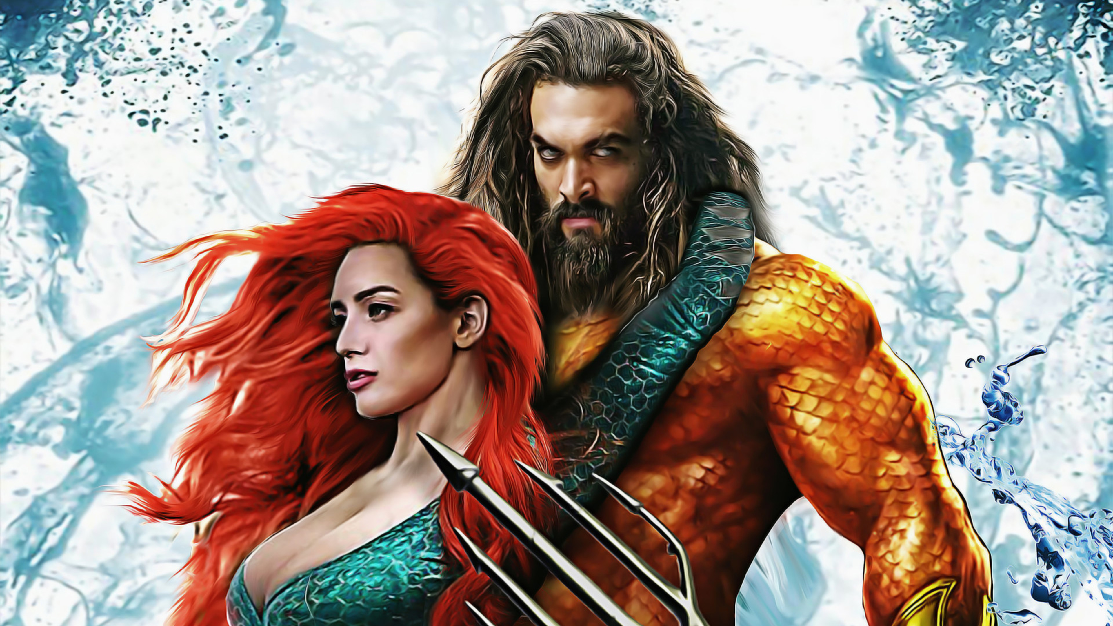 Aquaman And Mera Art 4k Wallpaper Best Wallpapers