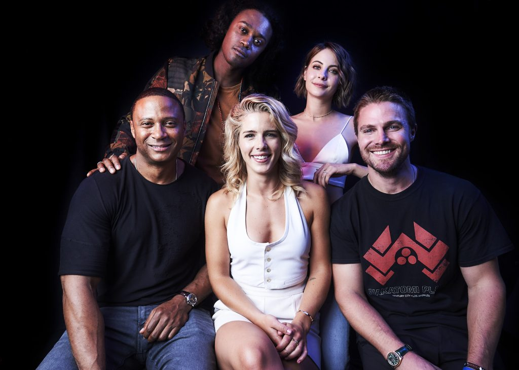 Arrow Cast in Comic Con 2017 4K Wallpaper