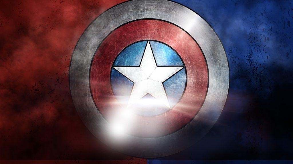 Captain America Shield 8K Wallpaper