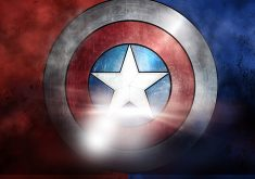 Captain America Shield 8K Wallpaper