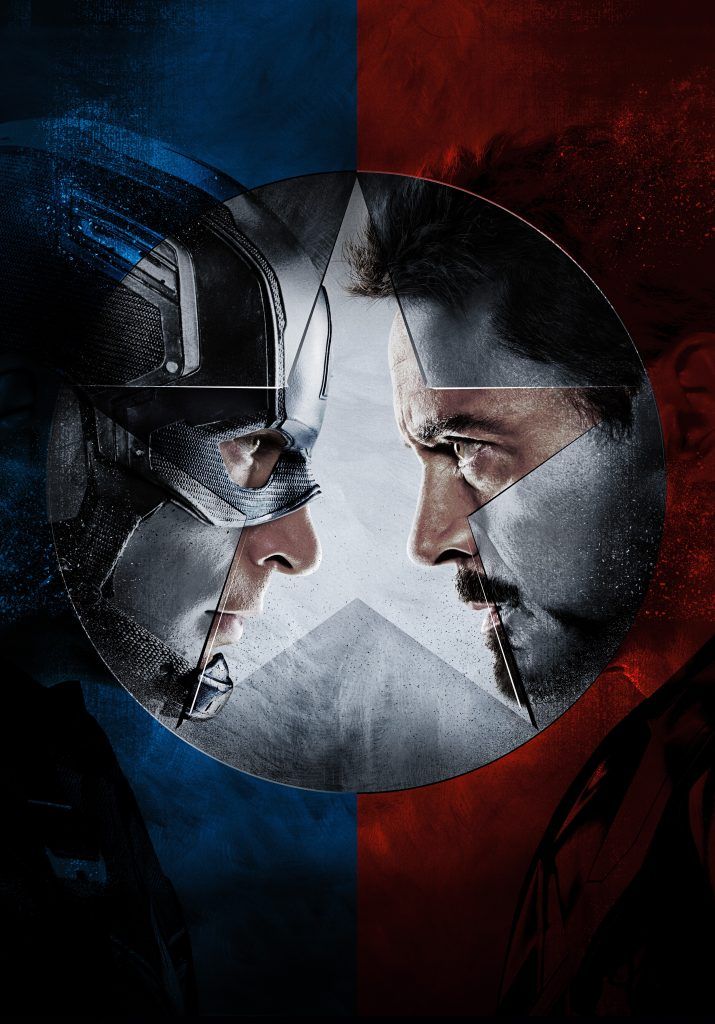Captain America vs Iron Man Civil War 4K Wallpaper