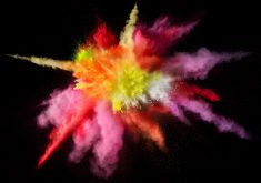 Color Powder Red Yellow Pink Orange White Macbook Pro 5K Wallpaper