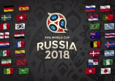 Country Flags in Fifa World Cup Russia 2018 4K Wallpaper